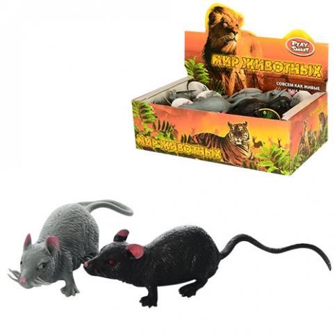 Животные 7218 (432шт) мышка,9см, антистресс, 24шт(2вида) в дисплее,  28-15-8,5см рис. 1