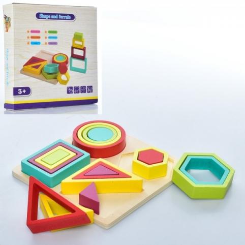 Деревянная игрушка Геометрика ББ MD-1717 18 предметов