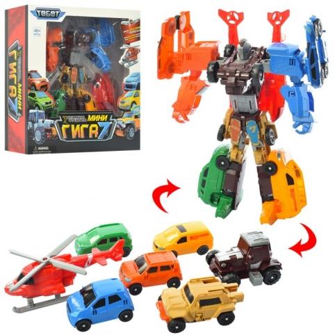 Трансформер Tobot Giga 7339-7C 7 в 1, робот+транспорт