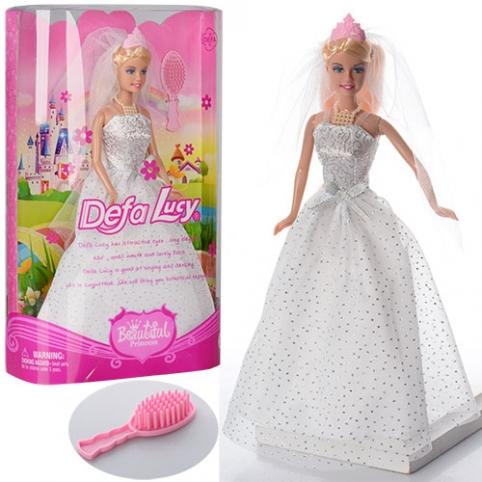 Кукла DEFA 6091 (36шт) невеста, 28см, расческа, в кор-ке, 20-32,5-6,5см рис. 1