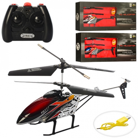 Р/У Вертолет FQ777-S390 (12шт) аккум,гироскоп,28см,3,5 канала,USBзарядн,свет,3цв,в кор-ке,50-18-7см рис. 1