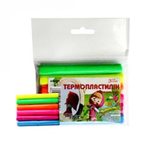 Термопластилін (полімерна глина), 6 кол., неон Імп рис. 1