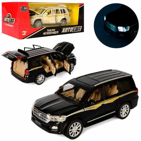 Машина AS-2291 (10шт) АвтоСвіт,металл,инер,1:24,19,5см,откр.дв, зв,св,2цв,бат(таб),в кор,29-12-15см рис. 1
