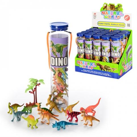 Динозавры T806C (120шт) 12шт, 6см, в колбе5-23-5см, 20шт в дисплее, 26,5-24-21,5см рис. 1