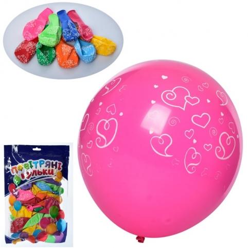 Кульки надувні принт серце (MK 1039-5)