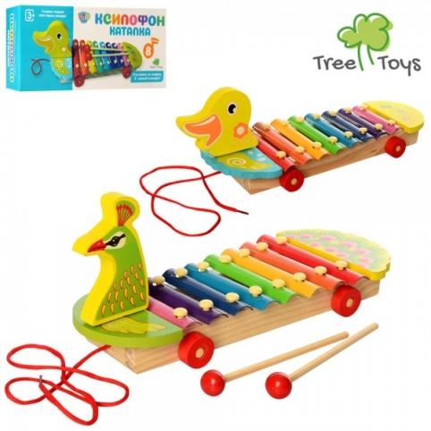 Дерев'яна іграшка Ксилофон 3057 каталка,