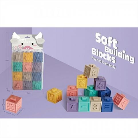 Кубики-конструктор текстурные животные
