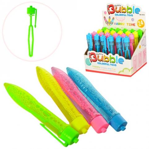Мильні бульбашки 1012 ручка 12 см., 24 шт. (4 кольори) в диспл., 18-12-14 см. рис. 1