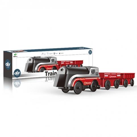 Потяг AU8888 локомотив, вагон 2 шт., їде, світло, бат., кор., 33-8,5-5 см. рис. 1