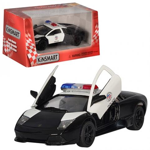 Машинка KT 5317 WP (24шт) металл,инер-я,полиция,12-4-5см,1:36,откр.двери,рез.колеса,в кор,16-7,5-8см рис. 1