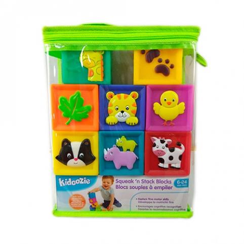 Кубики WD3776 (30шт) 9шт(животные,цифры,природа), 5,5см, в сумке, 17-22-6см рис. 1