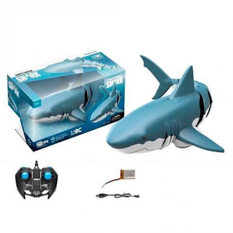 Животное Z102 (24шт) р/у2,4G, аккум, акула 34см, плавает, USBзар, в кор-ке, 38,5-18-15,5см рис. 1