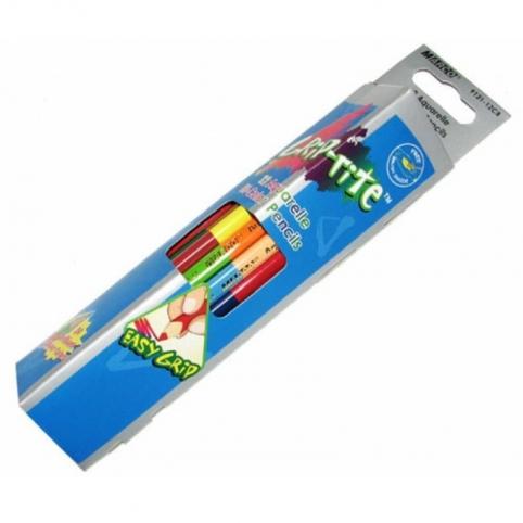 """Олівці акварельні двусторонні 12шт.24 кольори трикутні,Grip-Rite,9121-12CB,ТМ""""Marco"""""""