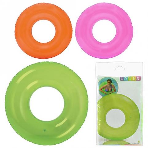 Круг 59260 (24шт) однотонный, 76см, 3 цвета, в кульке, 23,5-15см рис. 1