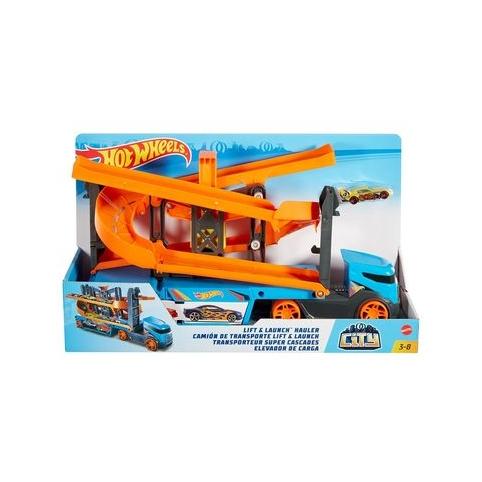 Грузовик-транспортер Hot Wheels City Крутой спуск (GNM62)