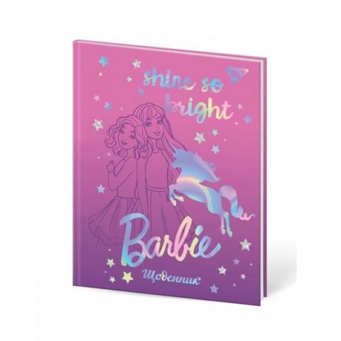 """Щоденник шкільний YES жорсткий """"Barbie unicorn"""" софт-тач,"""