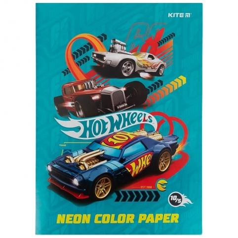 Папір кольор. неон. (10арк/5кол), A4 HW