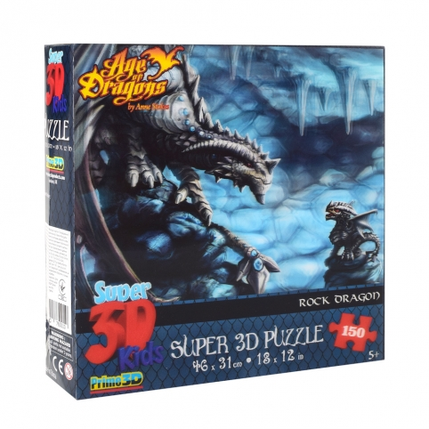 Пазлы 3D 10851 (6шт) каменный дракон, 46-31см, 150дет, в кор-ке, 20-20-5см рис. 1