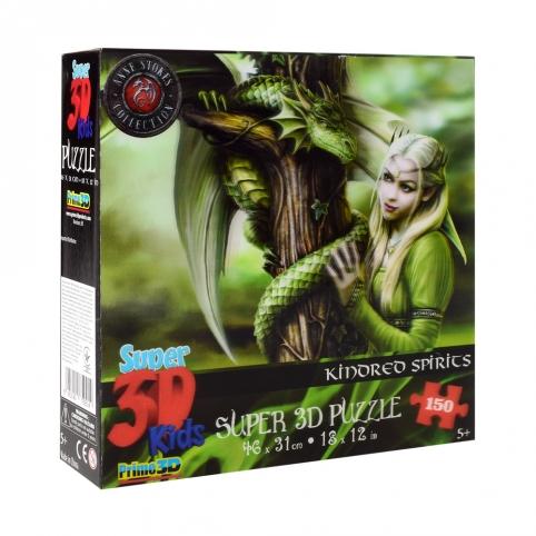 Пазлы 3D 10849 (6шт) принцесса и дракон, 46-31см, 150дет, в кор-ке, 20-20-5см рис. 1