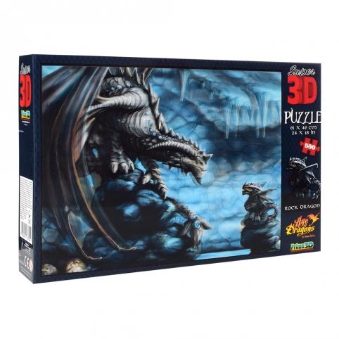 Пазлы 3D 10092 (6шт) каменный дракон, 61-46см, 500дет, в кор-ке, 31-20,5-5,5см рис. 1
