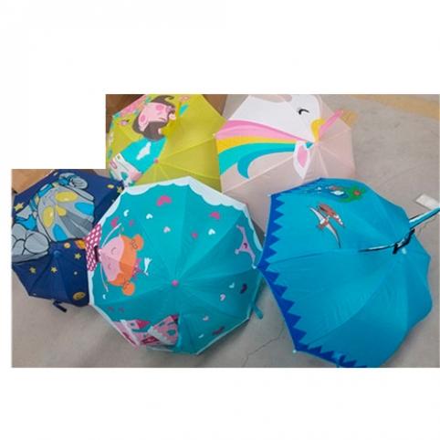 Зонтик детский MK 4476 (30шт) длина59см, диам.70см,спица45см, ткань, 5видов, в кульке рис. 1