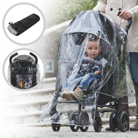 Дождевик ME 1061 (4шт) универсальный, для коляски, карман, чехол, в кульке, 19-24-3см рис. 1