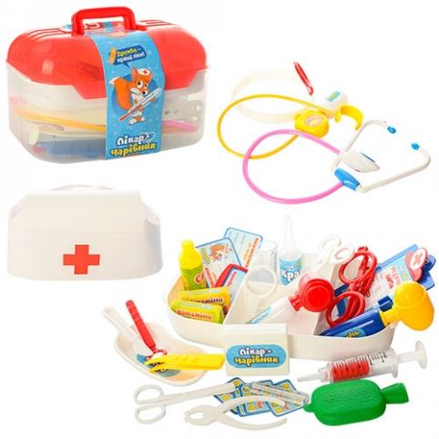 Доктор M 0460 U/R (24шт) 34 предмета, свет, в чемодане, 24-15-15см рис. 1