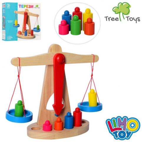 Дерев'яна іграшка ваги MD 0920 гирі