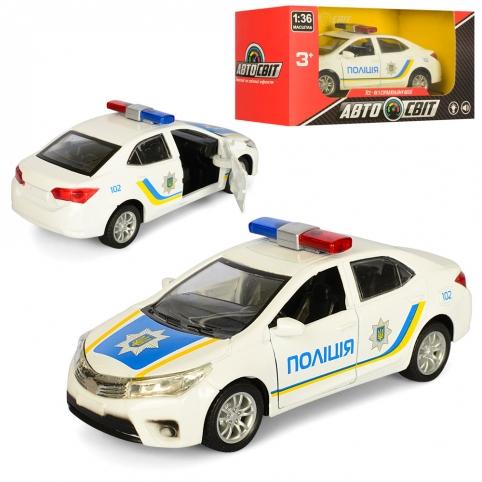 Машинка AS-1832 (48шт) АвтоСвіт 1:36, металл, инер-я, полиция, 12,5см, в кор-ке, 14,5-7,5-6,5см рис. 1
