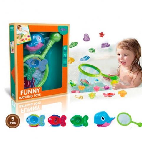 Набор игрушек для купания сачок 6610
