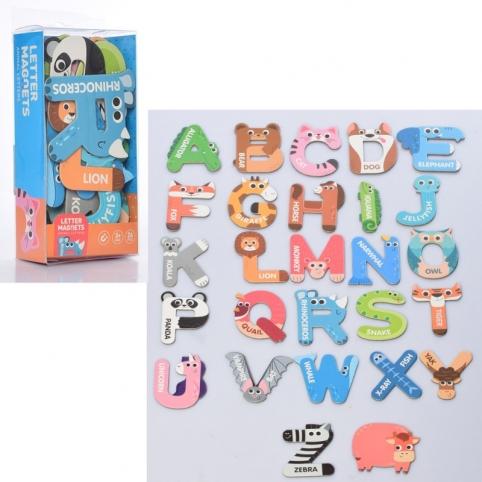 Набір магнітний 2058 букви (англ.), назви тварин