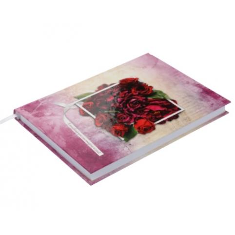 /Щоденник недатований DAISY, A5, 288 стор., вишневий рис. 1