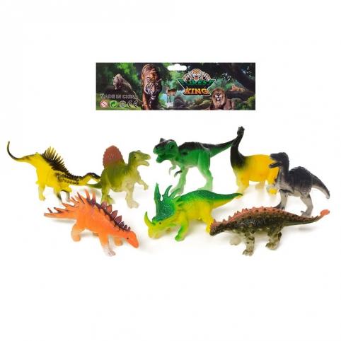 Динозавры 8шт в наборе 14см (TL9960)