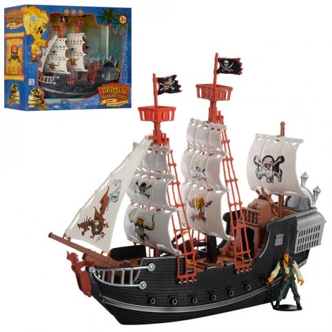 Набор пиратов M 0516 U/R (12шт) 38см, фигурки 2шт, в кор-ке, 41-36-13см рис. 1