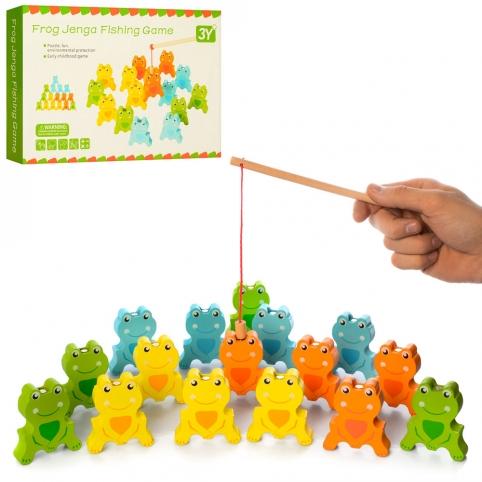 Деревянная игрушка Рыбалка MD 2034 (48шт) на магните, фигурки, удочка, в кор-ке, 28-18,5-4см рис. 1