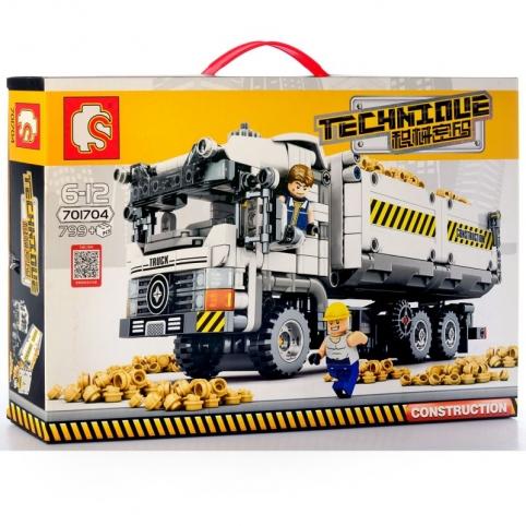 Конструктор Самосвал 701704 Sembo Block, 799 деталей