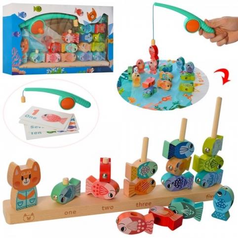 Дерев'яна іграшка Риболовля MD 2713