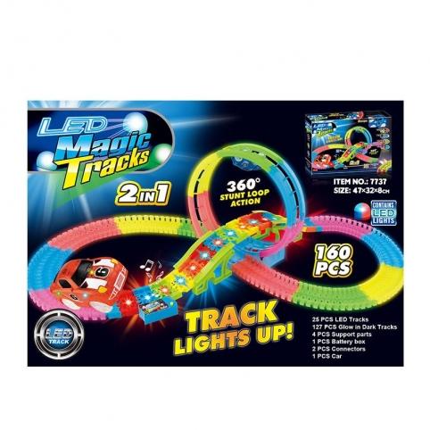 Трек Magic tracks 7737 160 деталей 2в1