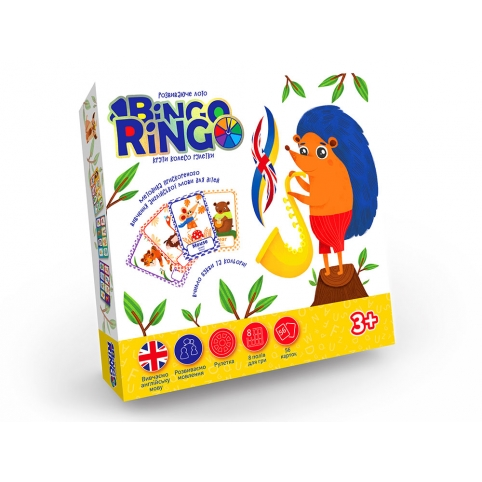 """Настільна гра """"BINGO RINGO"""" укр. - англ. рис. 1"""