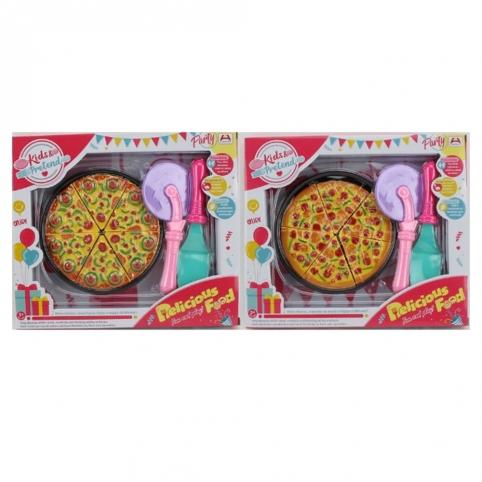 Продукты 7650-5-6 (96шт) пицца, нож, лопатка, 2 вида, в кор-ке, 29-24,5-4см рис. 1