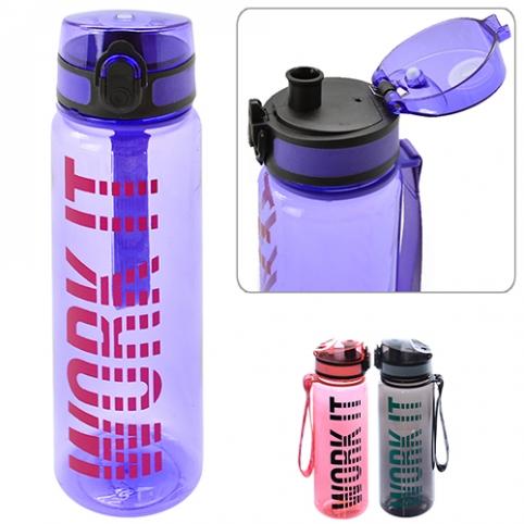 Бутылка-поилка спортивная 500мл 23*6.5см R83626 (80шт) рис. 1