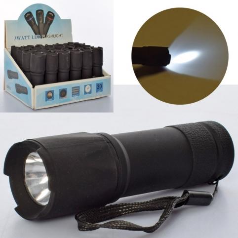 Ліхтарик MK 4269-1 чорний колір, світло, бат.,