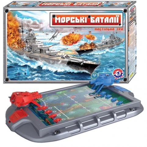 """Настільна гра """"Морські баталії ТехноК"""", арт.1110 рис. 1"""