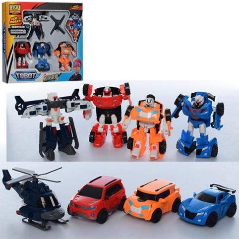 Трансформер (83168-TB4) TBT, 4шт, робот+транспорт 11см