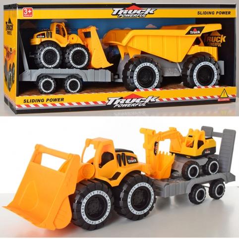 Трейлер E26-27-28 (12шт) инер-й,50см, стройтехника18см,подвиж.детали,3вида, в кор-ке, 52,5-22,5-17см рис. 1