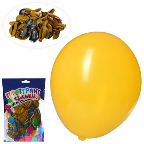 Шарики надувные MK 0014-2 (100шт) 12 дюймов, 2 цвета, 50шт в кульке,23-19-4см рис. 1