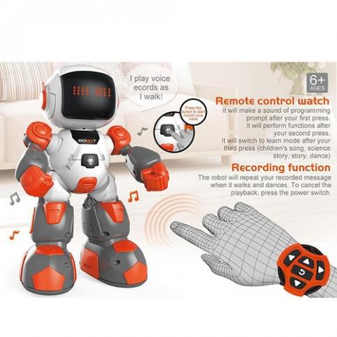 Робот 616-1 (12шт) р/у,23см,муз, звук(англ), свет,танцует,програм,2цв,на бат-ке,в кор-ке, 29-26-10см рис. 1