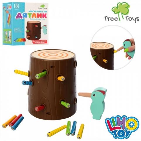 Дерев'яна іграшка Гра MD 2751 магнітна, пеньок, пташка, гусінь