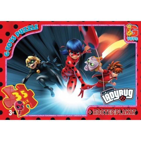 """LB1001 Пазли ТМ """"G-Toys"""" із серії """"Леді Баг"""", 35 елементів рис. 1"""