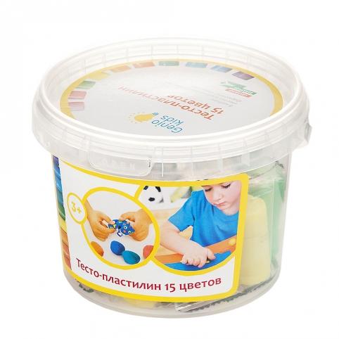 """Набір для дитячої ліпнини """"Тісто-пластилін 15 кольорів"""" 13,5*13,5*9,5см // рис. 1"""